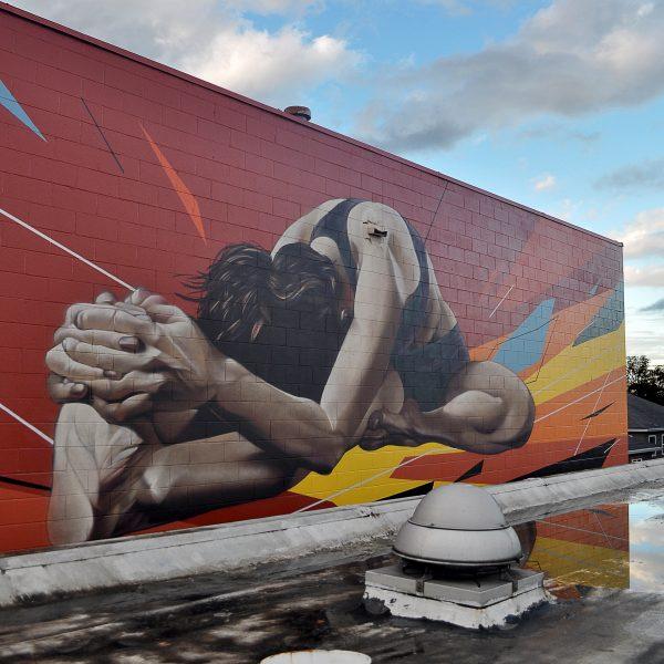 St Johns Yoga Mural Street Art