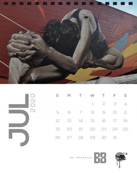 July Street Art Calendar