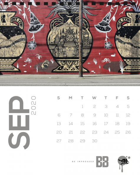 Street Art Calendar for September